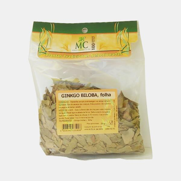 Ginkgo Biloba, Folha 50g planta chá