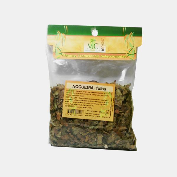Nogueira, Folha 50g Planta chá