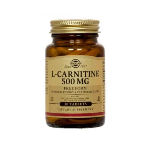 L-CARNITINA 500mg 30 comprimidos - SOLGAR