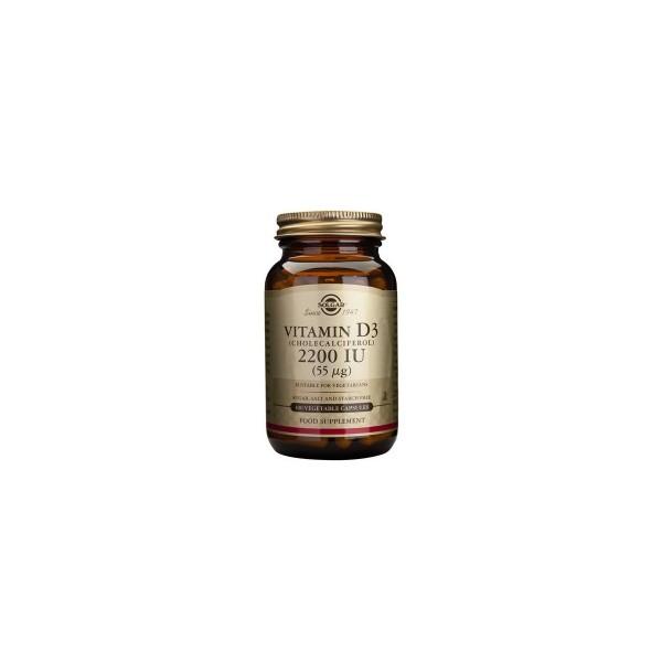 Vitamina D3 2200ui 100 cápsulas Solgar