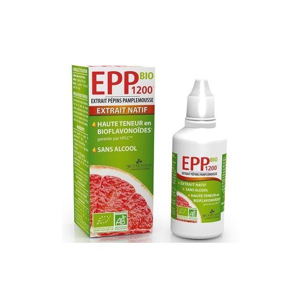 EPP 1200 Bio Extrato de Sementes de Toranja 50ml Les 3 Chênes