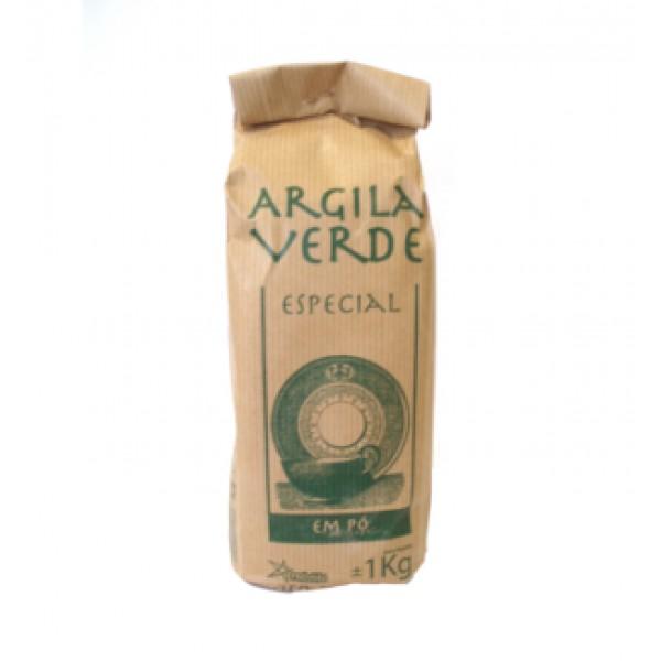 Argila Verde em Pó 1kg Natural