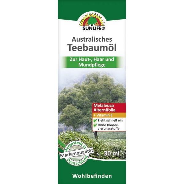Óleo de Tea Tree Australiano 30ml Sunlife