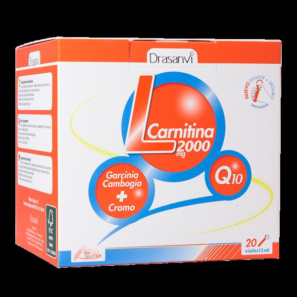 L-Carnitina 2000 mg com Q10 20 ampolas OEM