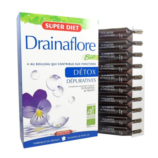 DrainaFlore 20 ampolas Super Diet