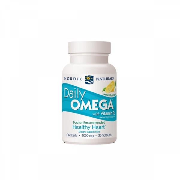 Daily Omega + Vitamina D3 30 cápsulas Nordic Naturals