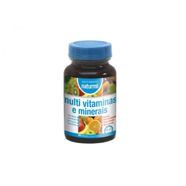 Multivitaminas e Minerais 60 cápsulas Naturmil