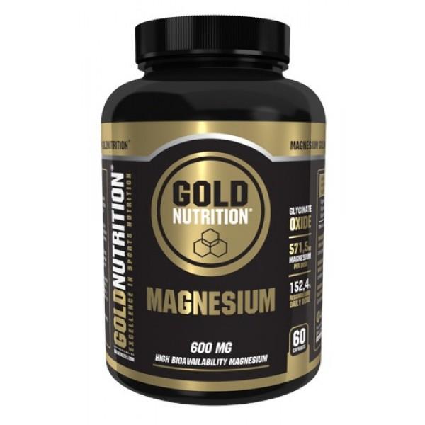 Magnésio 600mg 60 cápsulas Gold Nutrition